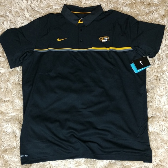 1eda954b8 Nikes Dri Fit Missouri Tigers Elite Polo